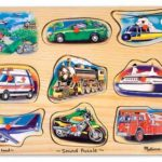 Games & Toys to Promote Language and Articulation: Melissa and Doug Vehicle Sound Puzzle | District Speech & Language Therapy | Speech Therapists in Washington DC
